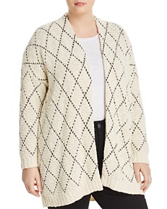 Eileen Fisher Plus - Diamond Pattern Cardigan