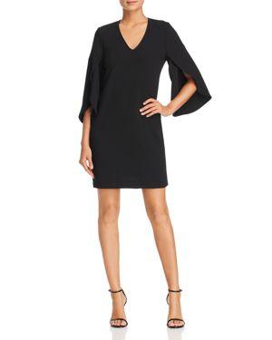 Robert Michaels Petal Sleeve Dress in Black