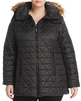 8ab0c2847c22f Marc New York Plus - Cypress Faux Fur Trim Puffer Coat ...
