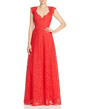 BCBGMAXAZRIA - Eve Floral-Lace Gown