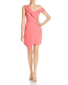 BCBGMAXAZRIA - Asymmetric Off-The-Shoulder Satin Dress