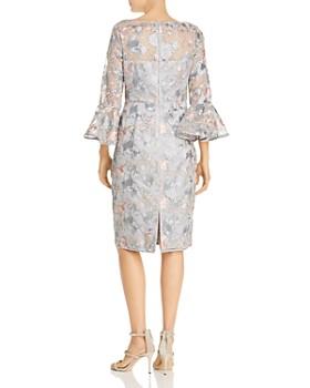Eliza J - Embroidered Mesh Illusion Dress