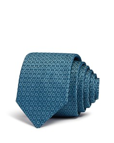 HUGO - Mini-Geometric Silk Skinny Tie