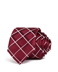 BOSS - Tonal Plaid Silk Skinny Tie