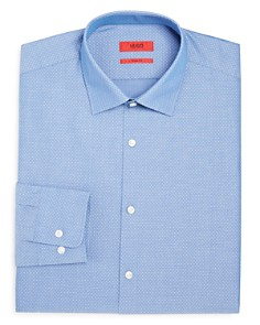 HUGO - Dash-Print Regular Fit Dress Shirt
