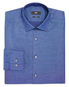 BOSS - Dobby Solid Regular Fit Dress Shirt
