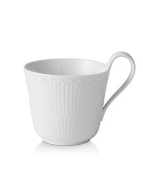 Royal Copenhagen - White Fluted Half Lace High Handle Mug