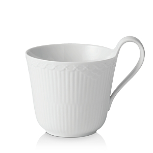Royal Copenhagen White Fluted Half Lace High Handle Mug