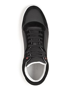 Burberry - Men's Reeth Leather & Canvas High-Top Sneakers