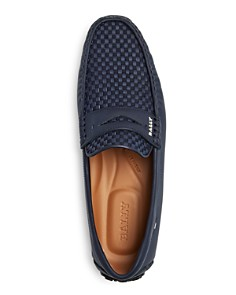 Bally - Men's Pikat Woven Rubber-Coated Leather Loafers
