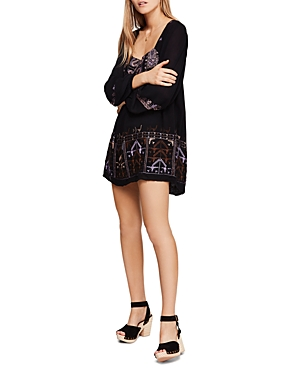 Free People Rhiannon Embroidered Mini Dress