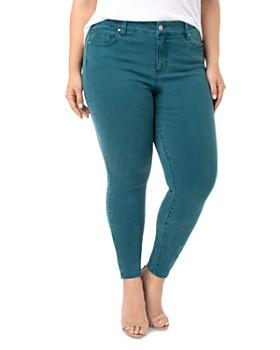 Liverpool Plus - Abby Skinny Jeans in Atlantic Deep Green