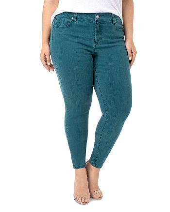 Liverpool Los Angeles Plus - Abby Skinny Jeans in Atlantic Deep Green