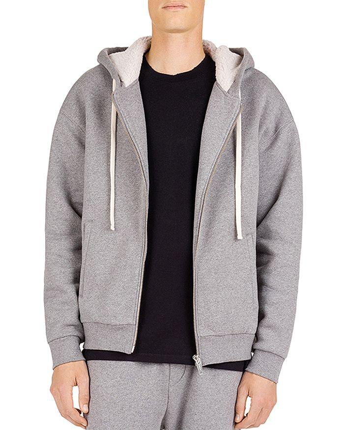 The Kooples - Zip-Front Sweatshirt with Fleece-Lined Hood