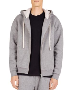 The Kooples Zip-Front Sweatshirt with Fleece-Lined Hood