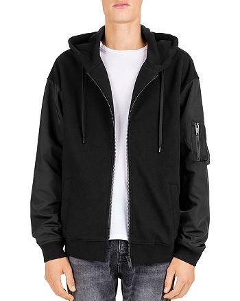 The Kooples - Tech-Sleeve Fleece Zip-Front Hoodie