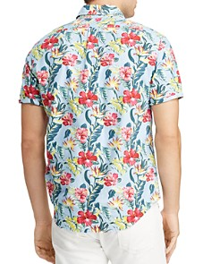 Polo Ralph Lauren - Short-Sleeve Floral-Print Classic Fit Button-Down Shirt