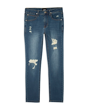 Hudson Boys Jude Distressed Skinny Jeans  Big Kid