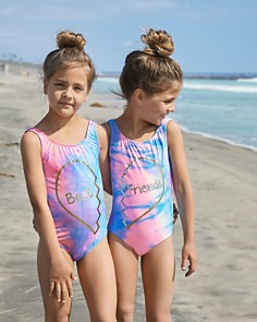 PilyQ - Girls' Friends One-Piece Swimsuit - Little Kid, Big Kid