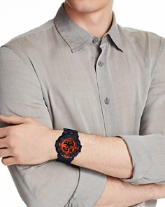 G-Shock - Front Button Black & Red Watch, 52.5mm
