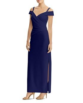 Ralph Lauren - Cold-Shoulder Gown