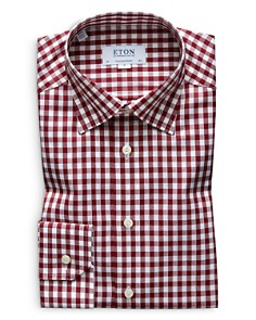Eton - Brushed Gingham Regular Fit Dress Shirt