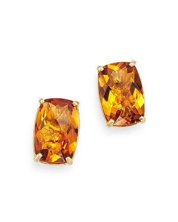 Bloomingdale's - Citrine Stud Earrings in 14K Yellow Gold - 100% Exclusive