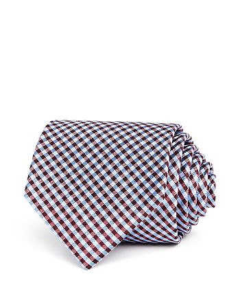The Men's Store at Bloomingdale's - Mini-Plaid Silk Classic Tie - 100% Exclusive