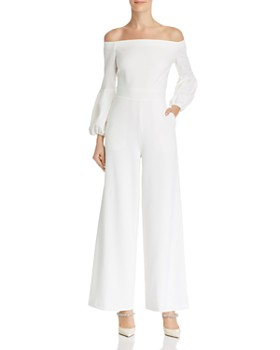 vince camuto off the shoulder wide leg jumpsuit 100 exclusive