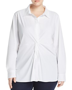 Lyssé Plus - Twist Front Button-Down Tunic