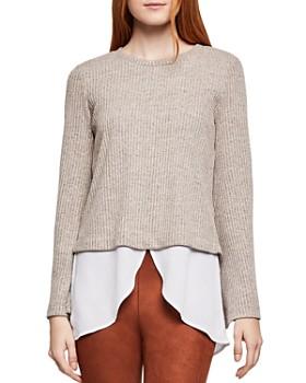 BCBGeneration - Layered-Look Rib-Knit Sweater