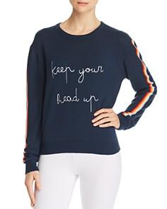 Spiritual Gangster - Head Up Rainbow-Stripe Sweater