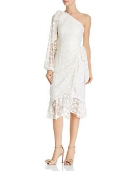 53d64b6952c1 Keepsake - Retrospect Embroidered Asymmetric Midi Dress ...