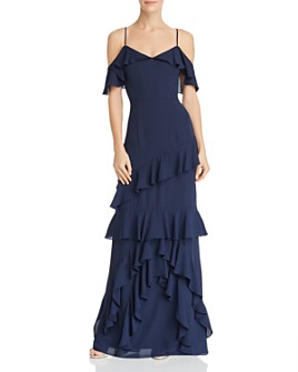 WAYF - Danielle Off-the-Shoulder Tiered Ruffle Dress