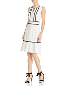 nanette Nanette Lepore - Sleeveless Lace Trim Knit Dress