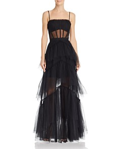 BCBGMAXAZRIA - Tulle Corset Gown