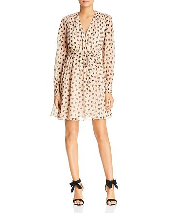 kate spade new york - Heart-Print Silk Dress