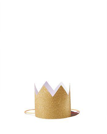 Meri Meri - Mini Gold Glittered Crowns, Pack of 8