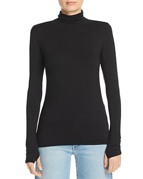 Enza Costa - Fitted Turtleneck Top