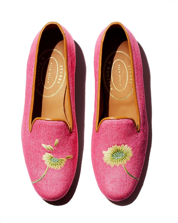 Stubbs & Wootton - Women's Forget Me Not Floral Loafers