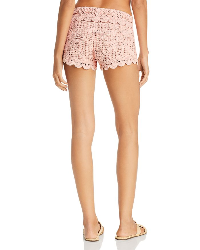 Surf Gypsy Dusty Rose Crochet Swim Cover Up Shorts Bloomingdales
