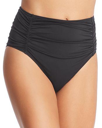 Tommy Bahama - Pearl Shirred High-Waist Bikini Bottom