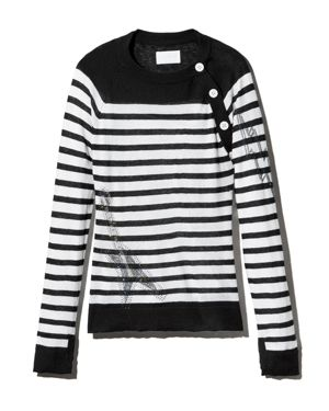 Zadig & Voltaire Reglis Bis Striped Cashmere Sweater