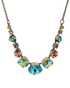 "Sorrelli - Delicate Round Crystal Necklace, 15"""