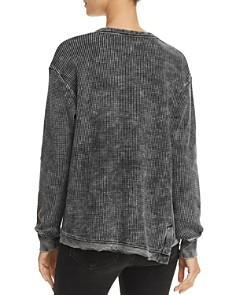Splendid - Aurora Waffle-Knit Sweatshirt
