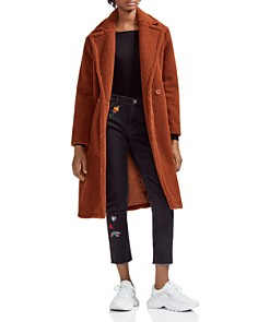 Maje - Gourson Teddy Faux-Fur Coat