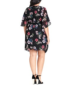 City Chic Plus - Lily Belted Floral Dress