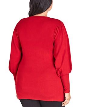 City Chic Plus - Balloon-Sleeve Sweater