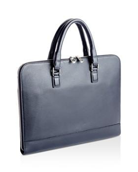 ROYCE New York - Slim Leather Briefcase