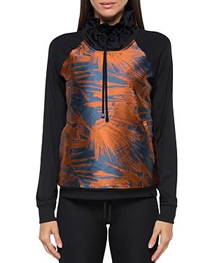 Koral Sweatshirts PRINTED FUNNEL-NECK SWEATSHIRT